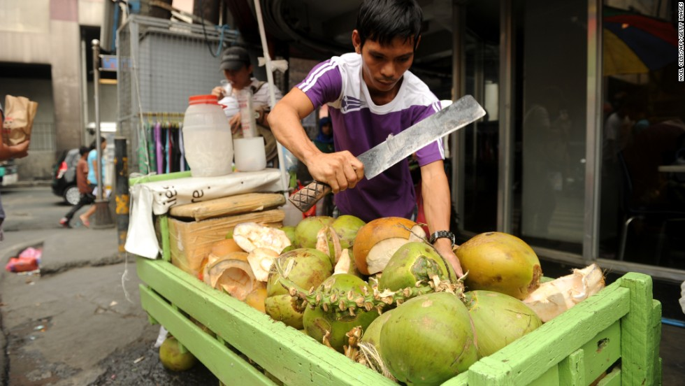 The Philippines is the world's largest producer of coconuts, so when you're in country you're never far from the olfactory excitement of a freshly cut one.
