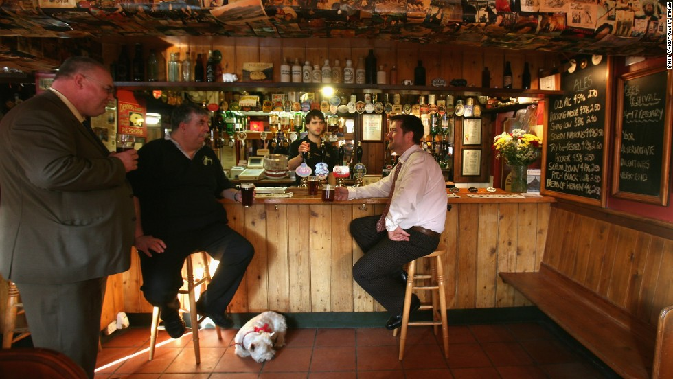 There's nothing like the fug of a warm English pub, preferably with a dog and fire in the mix. The Old Spot Inn in Dursley (pictured) is a 100-year-old pub with a keen nose for tradition.