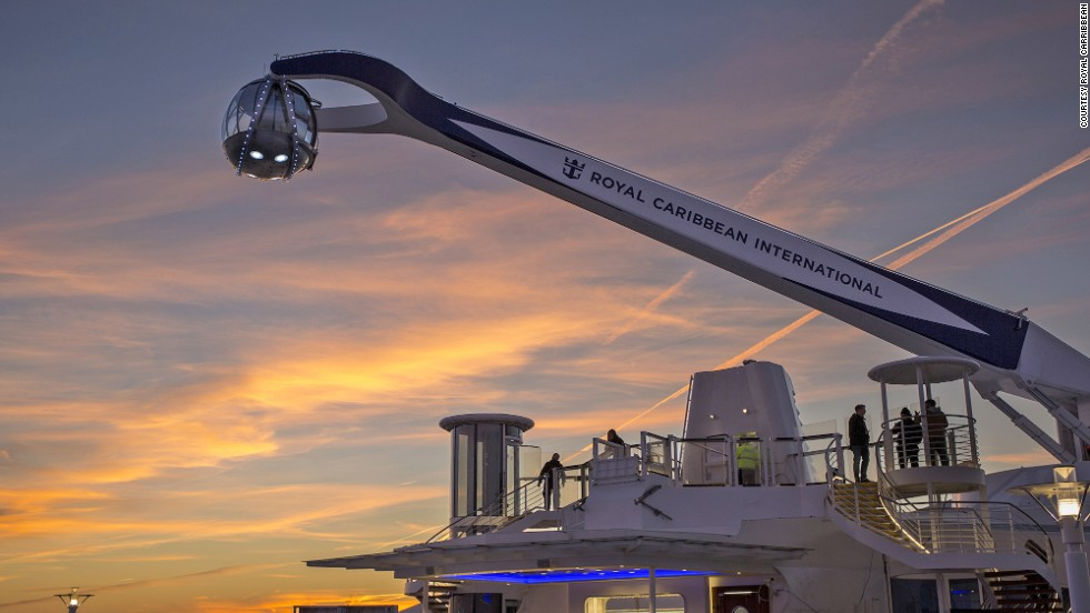 North Star lifts passengers 300 feet above sea level to offer stunning views of the ocean, ship and whatever destinations you happen to be sailing to.