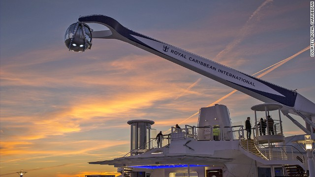 The ship's North Star lifts passengers 300 feet above sea level.
