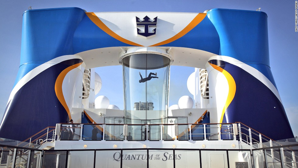 "No need for Titanic-style ""Jack, I'm flying"" reenactments at the front of this ship. Quantum of the Seas has a RipCord by iFly skydiving simulator."