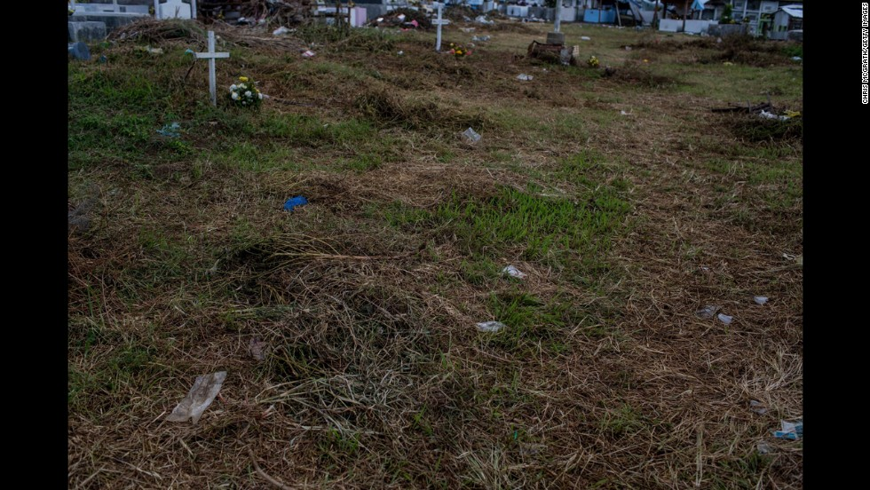 View of the mass grave site at Basper Cemetary.