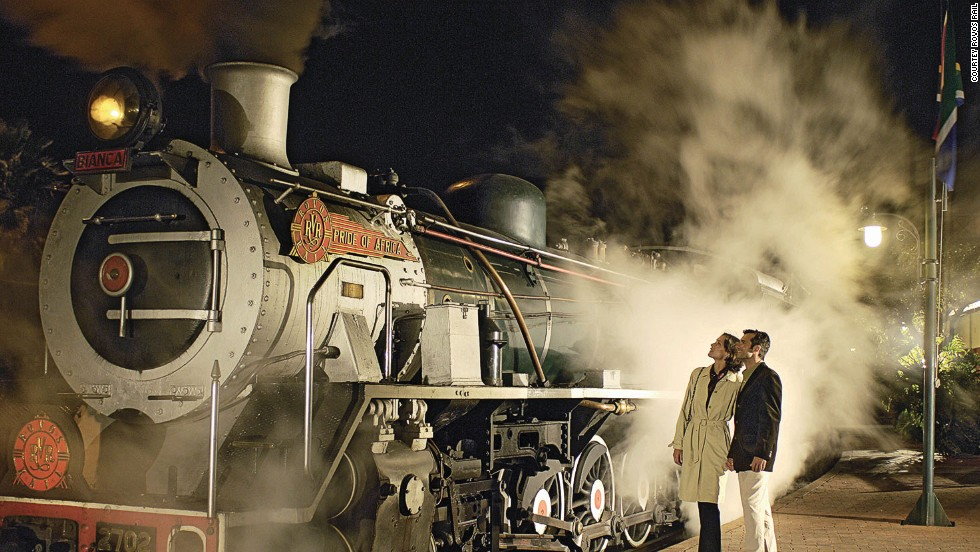 Rovos Rail's locomotive, the Pride of Africa, conjures the golden era of the age of steam.