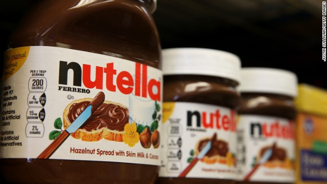 Nutella wants the FDA to change the suggested serving amount on its jars.
