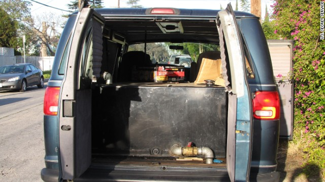 Special tanks are installed inside SUVs, vans and trucks.