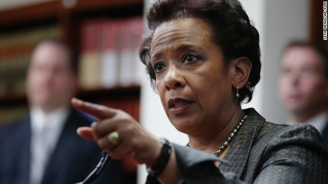 FILE- In this April 28, 2014 file photo, Loretta Lynch, U.S. Attorney for the Eastern District of New York, speaks during a news conference in New York. Lynch could be one of a handful of contenders being considered to replace Eric Holder when he steps down as U.S. Attorney General. (AP Photo/Seth Wenig, File)