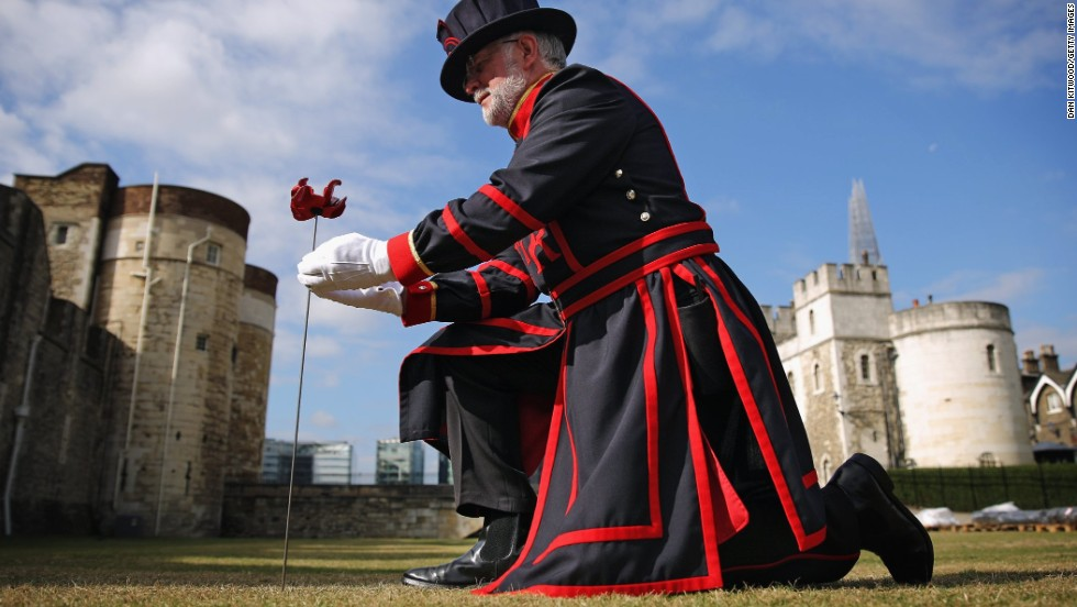 "The first was ""planted"" in the moat of the Tower of London by Crawford Butler, the longest serving Yeoman Warder at the Tower, on July 17, 2014."