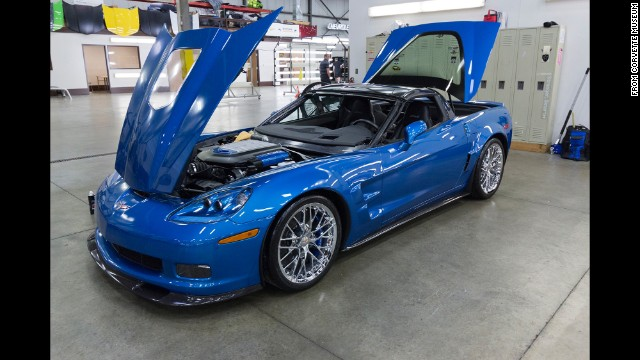 Nice restoration job: Hard to believe this ZR1 Blue Devil fell down a hole.