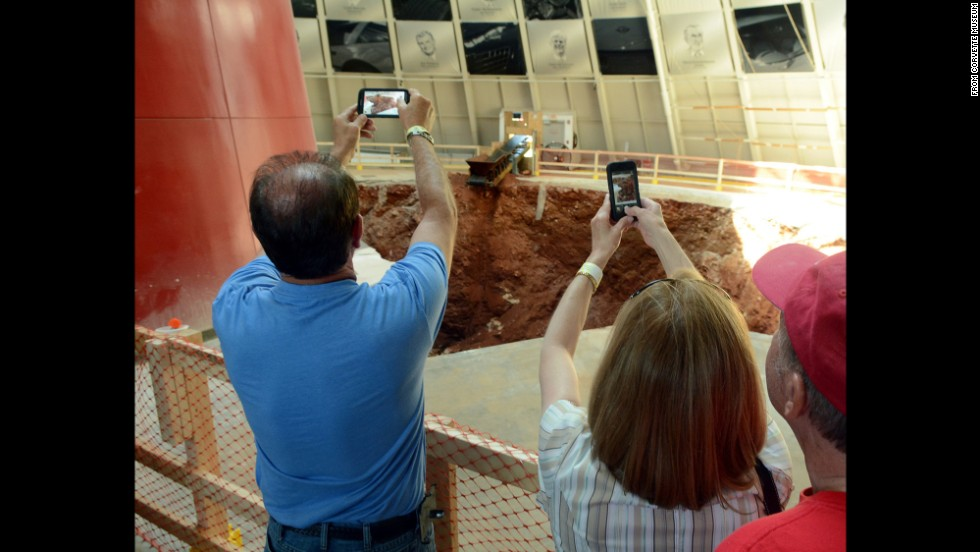 This coming Monday work is set to begin to fill a 30-foot-deep sinkhole which ruined the museum's round Skydome. Estimated cost of the eight-month project: $3.2 million.