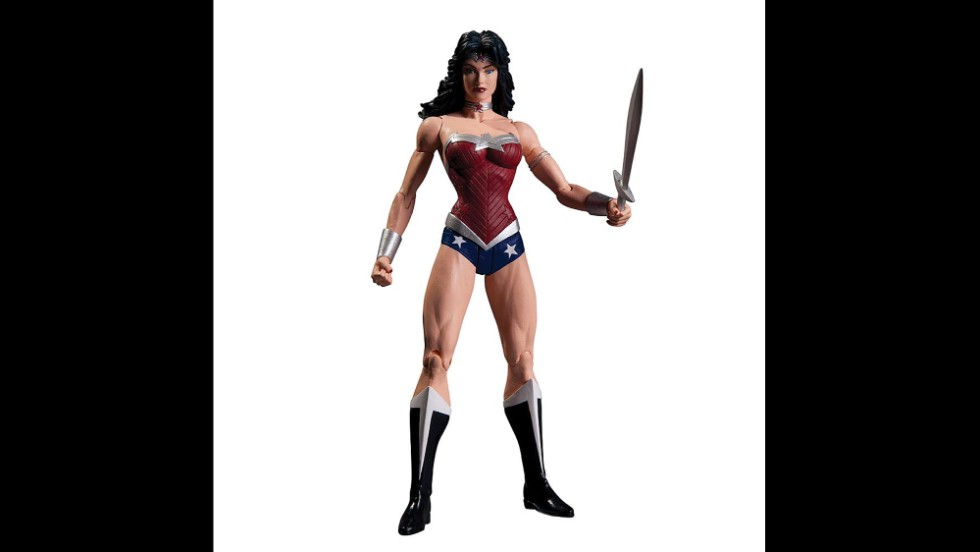 "This action figure portrays Amazonian princess Wonder Woman as muscular, strong and bold. The bustier and briefs ensemble harks back to the classic costume from the '70s Lynda Carter television series. The latest <a href=""http://www.cnn.com/2014/07/28/showbiz/movies/wonder-woman-gal-gadot-photo-batman-v-superman/"">big-screen</a> Wonder Woman's look stirred some controversy when a mockup was released last summer."