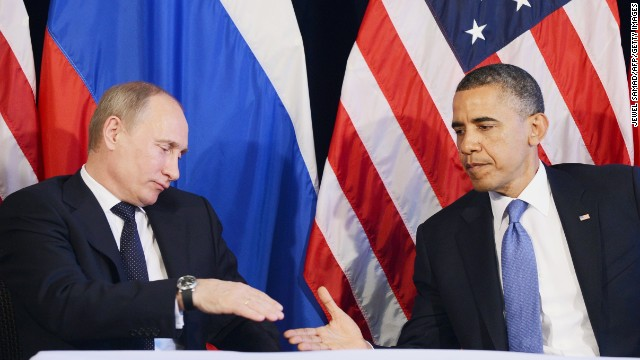 US President Barack Obama (R) shakes hands with Russian President Vladimir Putin after a bilateral meeting in Los Cabos, Mexico on June 18, 2012 on the sidelines of the G20 summit.