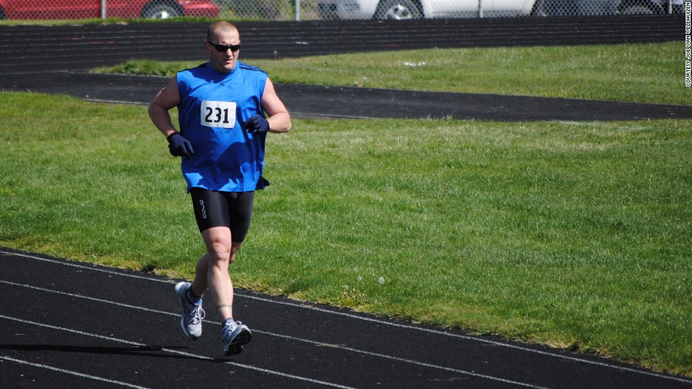 "From his slow and steady approach, Joe says, ""I found that my body adapted, those pains weren't as significant anymore. I could now do those distances required and the training. And I just kept on moving forward."""