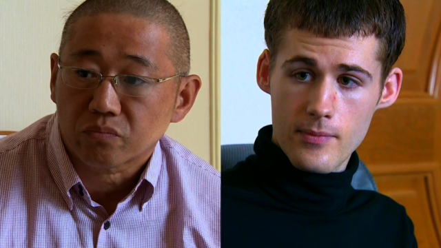 N. Korea releases two U.S. detainees