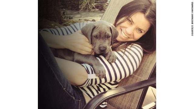 Brittany Maynard in San Francisco with her dog Charley.