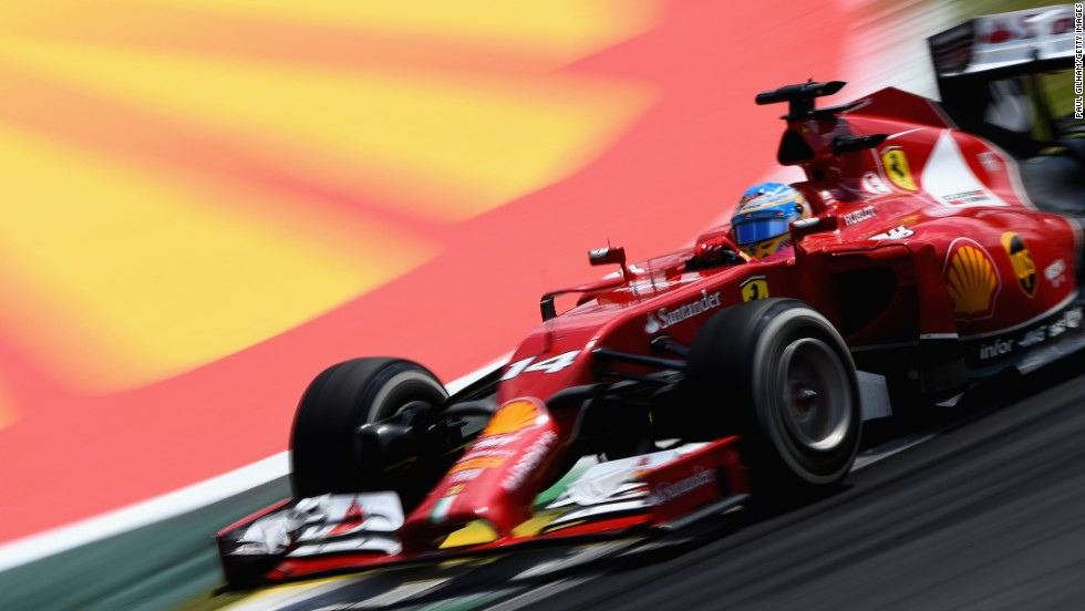 Fernando Alonso of Spain drives during the Brazilian Formula One Grand Prix on Sunday, November 9, in Sao Paulo, Brazil.