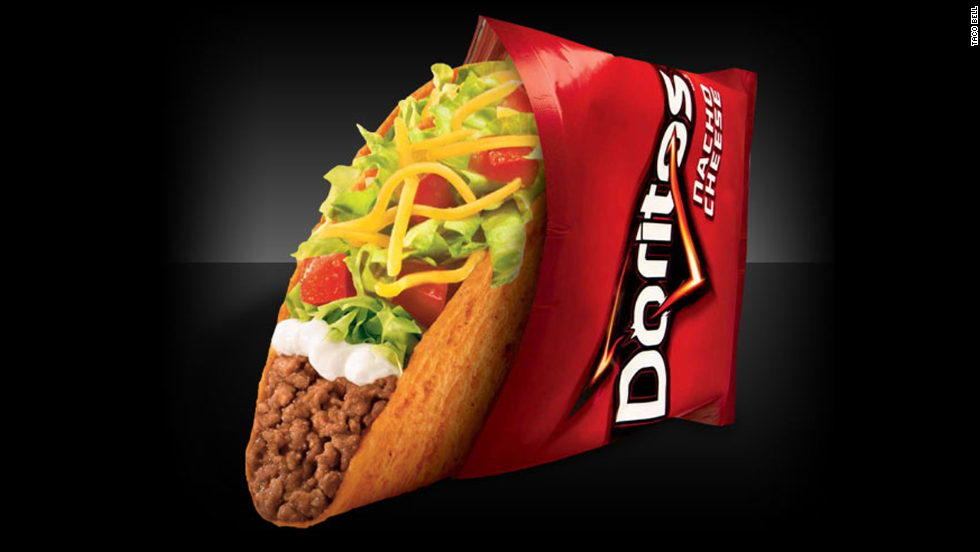 "Frito-Lay and Taco Bell hit pay dirt with Doritos Locos Tacos, which contain classic Taco Bell fillings inside a Doritos-flavored shell. The product is considered one of the most <a href=""http://www.theatlantic.com/magazine/archive/2014/07/doritos-locos-tacos/372276/"" target=""_blank"">successful in fast-food history</a>, generating billions of dollars in sales and high marks from fans."