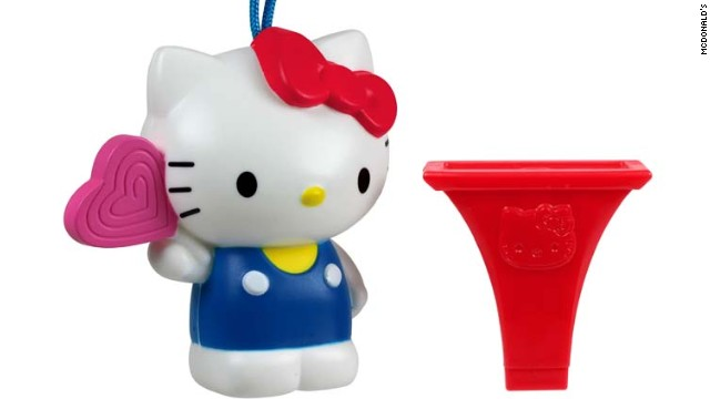 The Hello Kitty Birthday Lollipop Toys, distributed in McDonald's Happy Meals, are being recalled because they pose a chocking hazard to children.