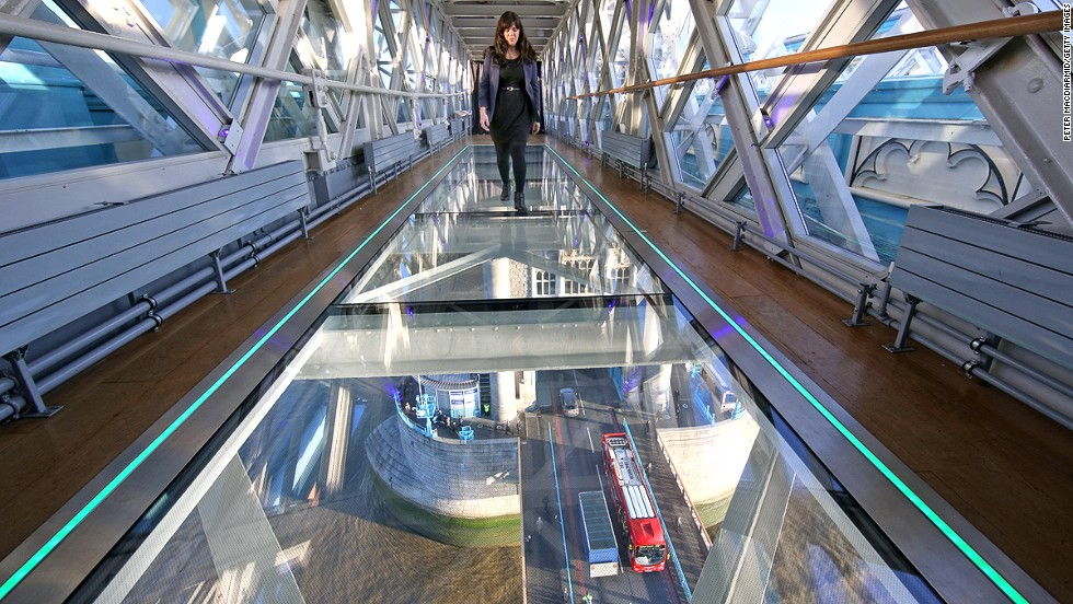 Glass Walkway Offers Views From London S Tower Bridge
