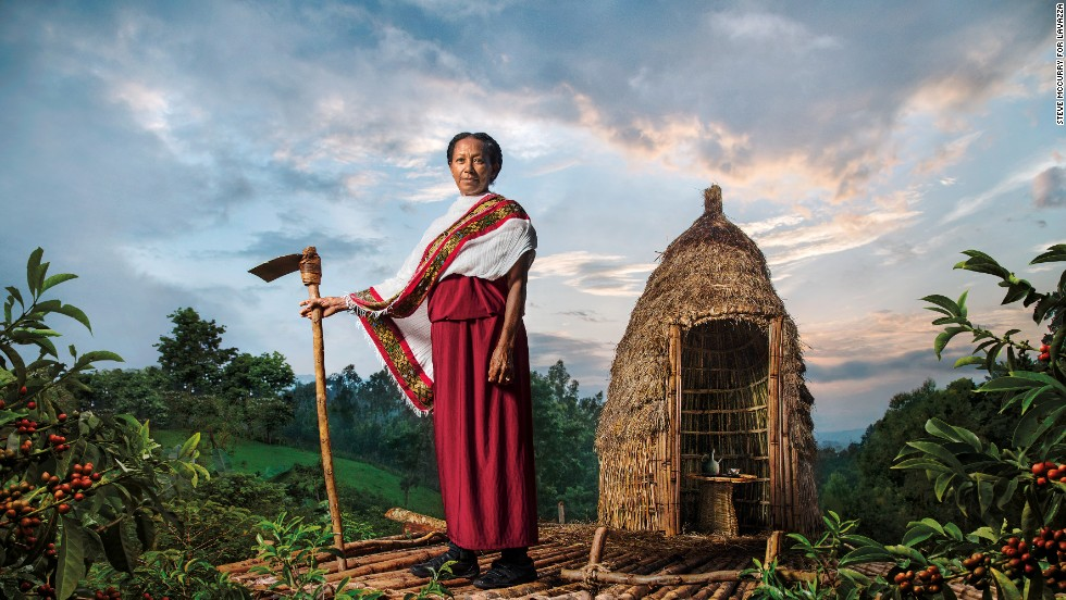 "Ethiopia has a deep-rooted, decades-old coffee culture. The country is considered coffee's birthplace, and is the top producer in Africa, and the fifth largest producer in the world. Ethiopia's producers bring in <a href=""http://www.bloomberg.com/news/2014-08-20/ethiopia-coffee-export-earnings-may-surge-25-on-world-supplies.html"" target=""_blank"">$719 million annually, according to the Ethiopian Coffee Exporters Association. </a>McCurry captured <a href=""http://www.amarogayocoffee.com/"" target=""_blank"">Asnakech Thomas, the country's first female miller and exporter</a>, in a dynamic portrait nestled amidst the coffee plantations."