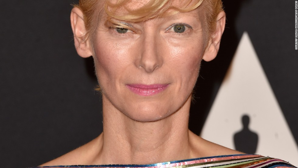 "Tilda Swinton, 54, appeared in a campaign shot by Karl Lagerfeld himself, wearing pieces from Chanel's ""Paris-Edimbourg"" Métiers d'Art line in 2013."