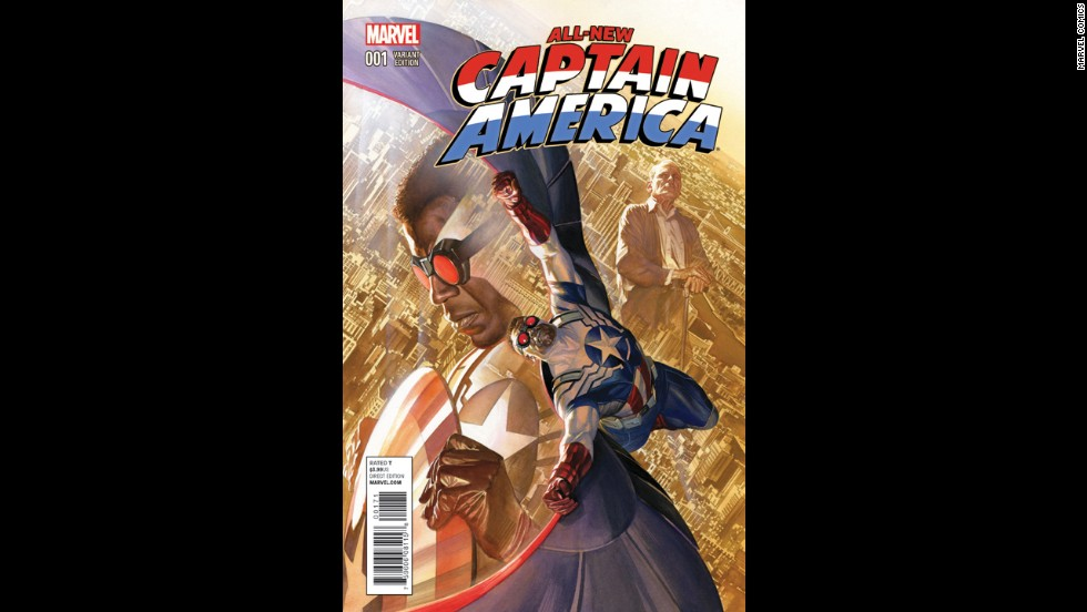 "Fan favorite artist Alex Ross captures the new Captain America in this variant cover for ""All-New Captain America"" No. 1."