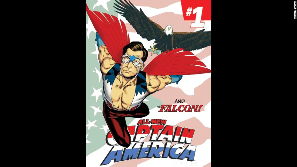 Stephen Colbert made no secret of his interest in becoming the new Falcon, and Marvel Comics granted that wish.