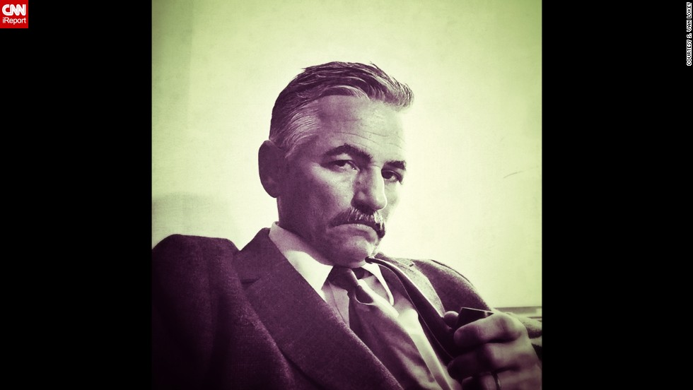 """I posted a picture a few weeks ago on Facebook, and someone said I looked like William Faulkner. This was an attempt to look like him, but it didn't quite work out because his mustache was very different than the one I had. I didn't have one like his."""