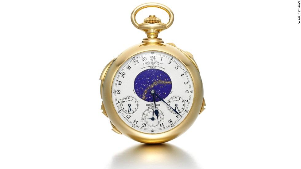 The Henry Graves 'Supercomplication' timepiece sold for $24 million at Sotheby's 2014 Important Watches sale, breaking its own record for a watch sold at auction.