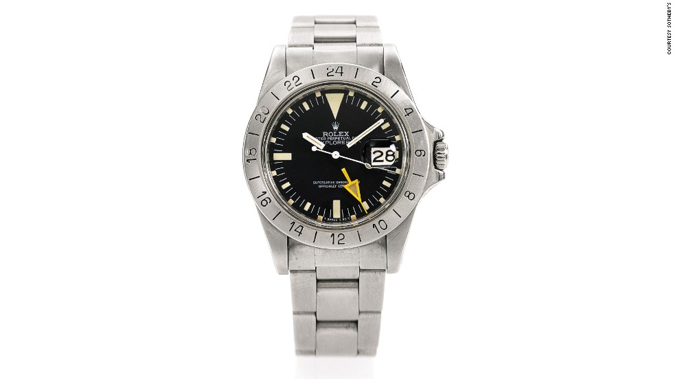 This Rolex Explorer II Steve McQueen wristwatch sold for $252,867.