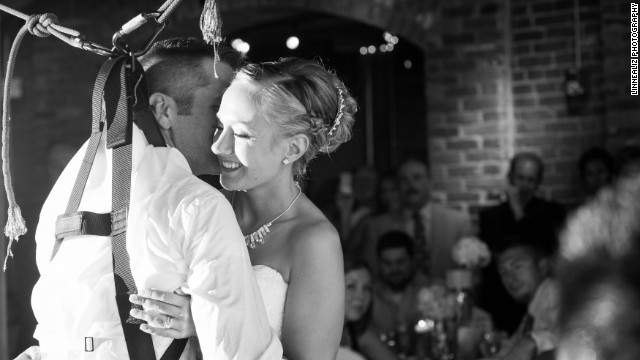 Paraplegic groom's first dance surprise