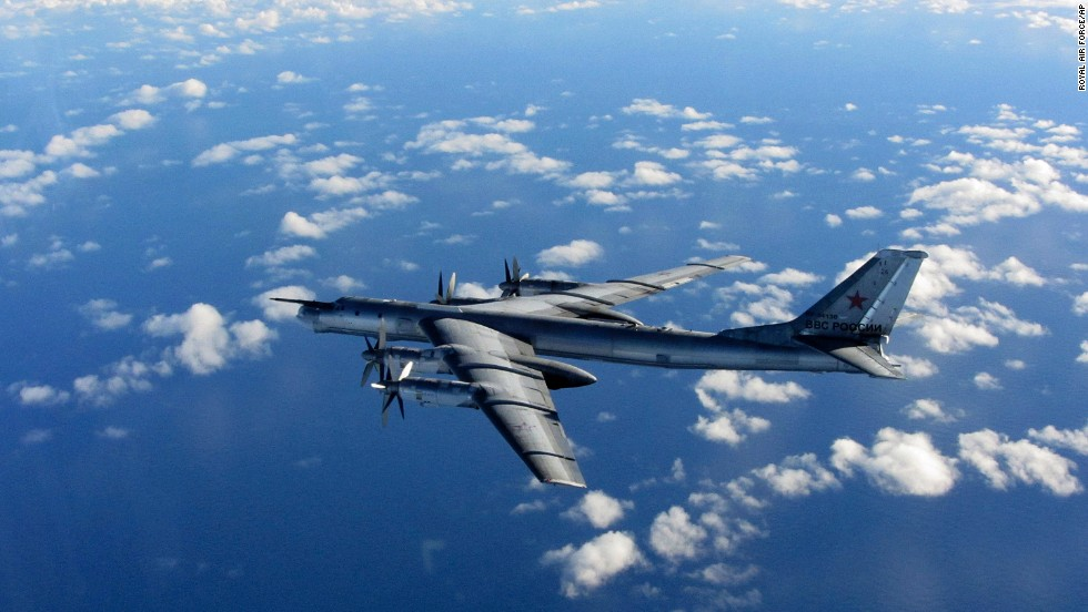British Royal Air Force jets intercepted this Russian Tu-95 Bear bomber in October.