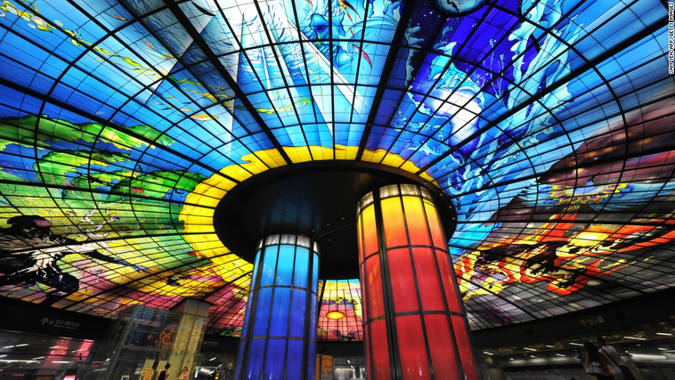 Half kaleidoscope, half metro station, Kaohsiung's Formosa Boulevard features the world's largest glass artwork.