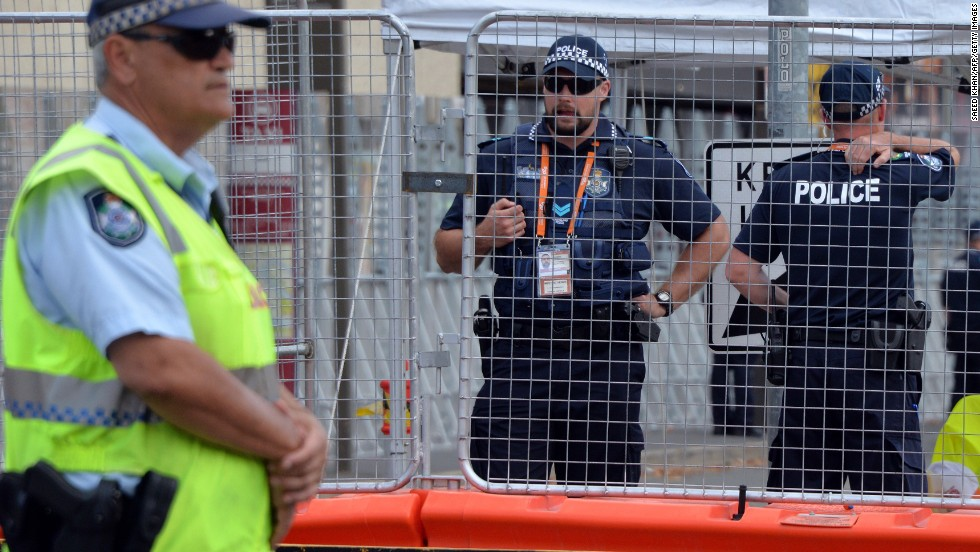Barricades have been erected in an unprecedented security clampdown in the Queensland capital for the G20 summit. Around 6,000 police officers will be on duty this weekend.