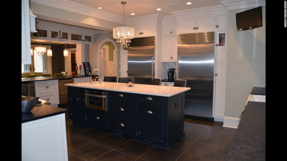 The nearly 6,300-square-foot home features a gourmet eat-in kitchen.
