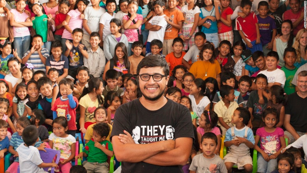 """I love my city and my country. I want to inspire these kids,"" Romero Fuentes said. ""They are the ones in charge of writing the new history in Guatemala."""