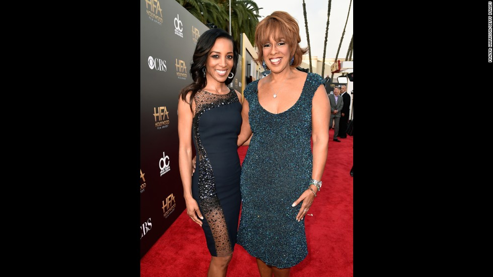 TV personalities Shaun Robinson, left, and Gayle King
