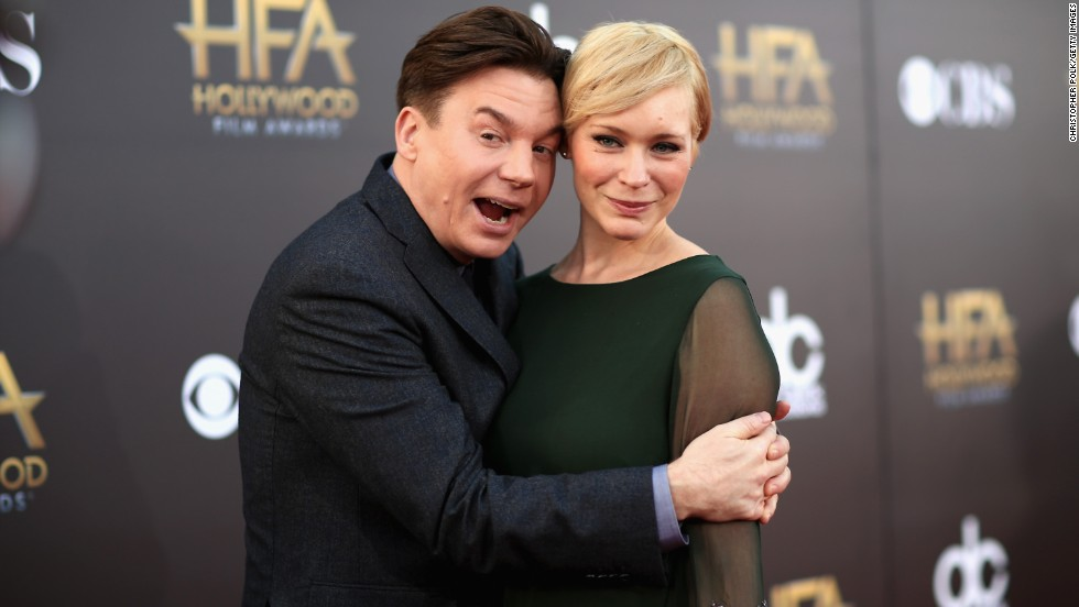 Actor Mike Myers and Kelly Tisdale