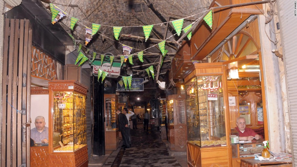 "The covered markets in the Old City are a famous trade center for the region's finest produce, with dedicated sub-souks for fabrics, food, or accessories. The tunnels became the scene of fierce fighting and many of the oldest are<strong> </strong>now damaged beyond recognition, which Unesco has<strong> <a href=""http://whc.unesco.org/en/news/940/"" target=""_blank""></strong>described as a tragedy</a>."