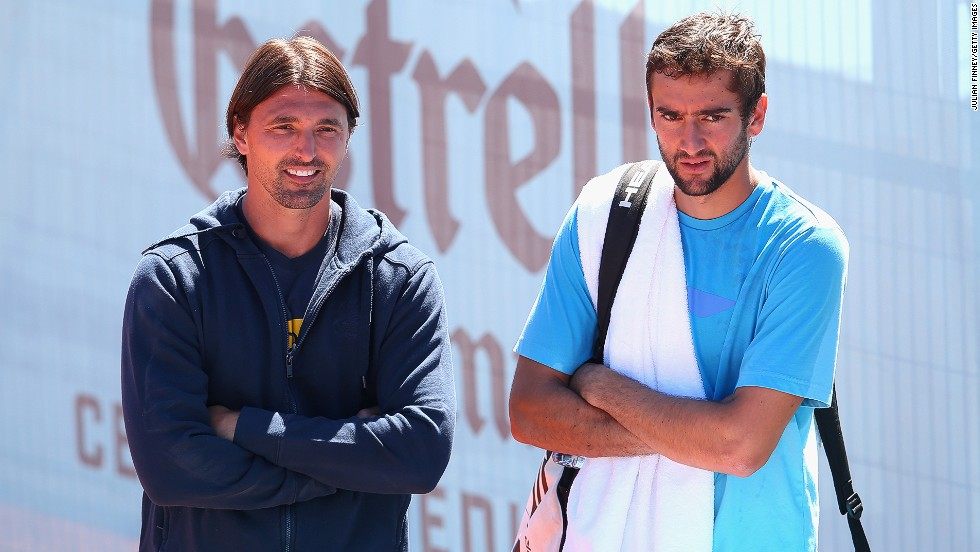 Former Wimbledon champion Goran Ivanisevic (left) is something of a veteran on the coaching circuit having teamed up with fellow Croatian Marin Cilic in 2010.