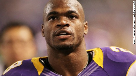 Adrian Peterson #28 of the Minnesota Vikings looks on during a game against the Green Bay Packers on December 30, 2012 at Mall of America Field at the Hubert H. Humphrey Metrodome in Minneapolis, Minnesota. (Photo by Andy Clayton King/Getty Images)