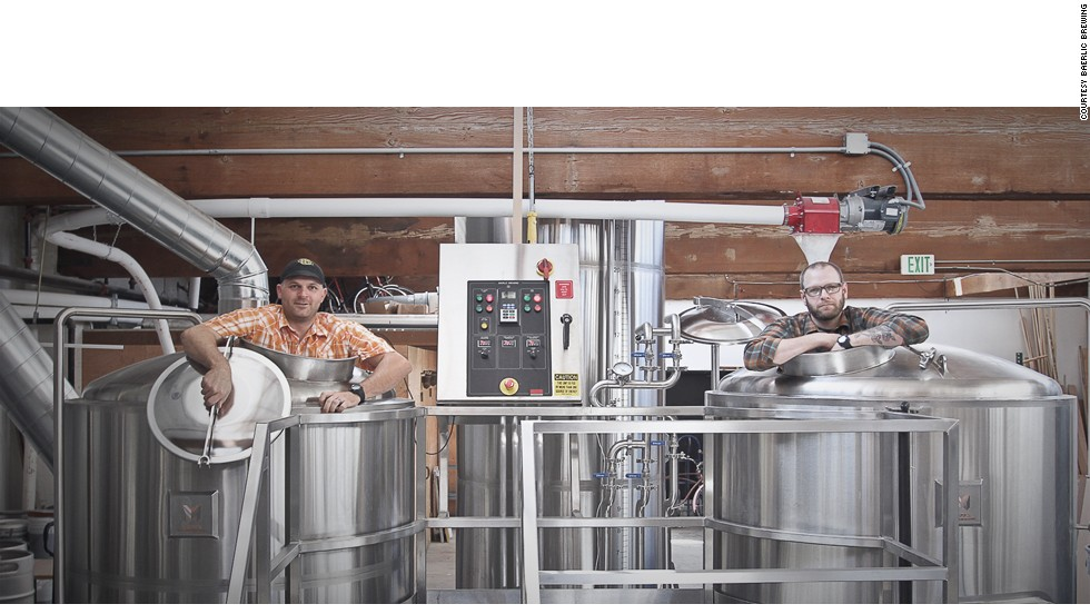 Baerlic Brewing co-founders Ben Parsons (left) and Richard Hall illustrate the spirit that helps Portland maintain prime position in the brewing world, even as the beer gap closes.