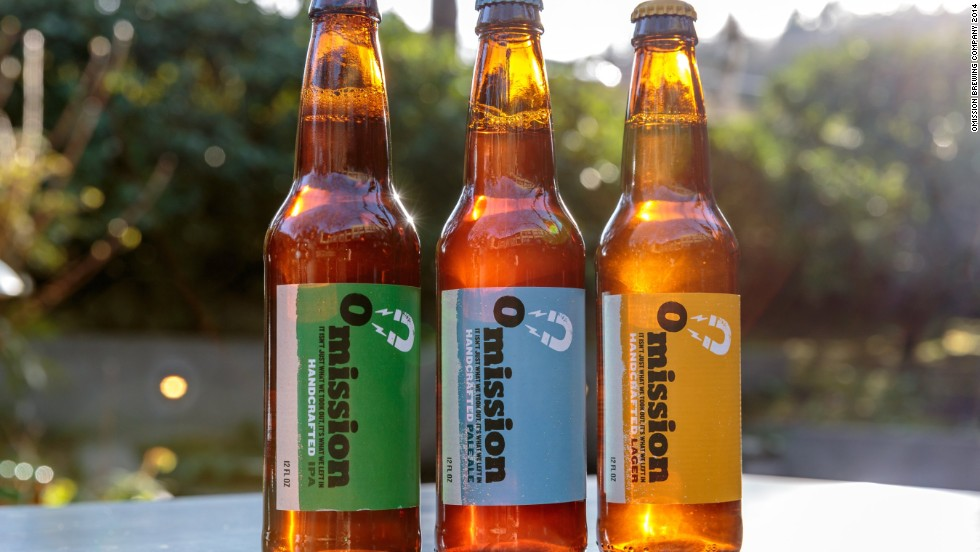 A lager, pale ale and an IPA are part of the Omission lineup of beers, brewed specially to be gluten free.