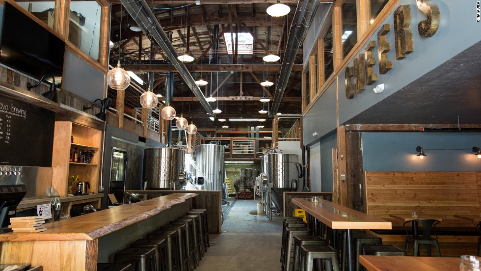 With its exposed bow-truss ceiling, Ex Novo is among the most atmospheric brewpubs in town.