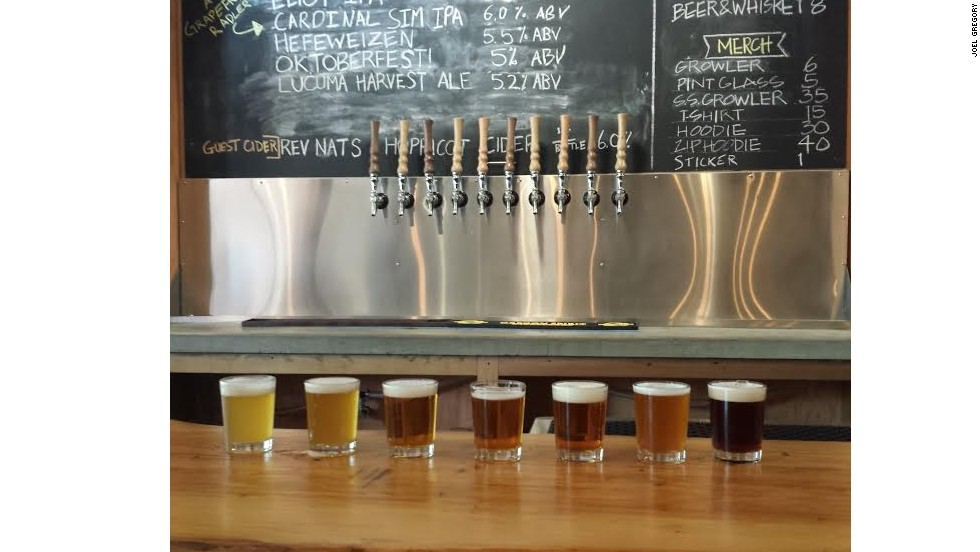 Ex Novo's beer flight, tap list and warm counter tops have earned it a loyal following.