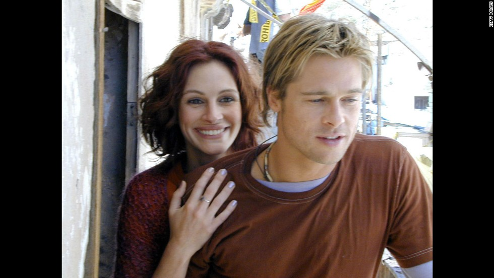 "In 2000, Brad Pitt appeared with Julia Roberts in ""The Mexican"" and made one of two appearances on the sexy list."