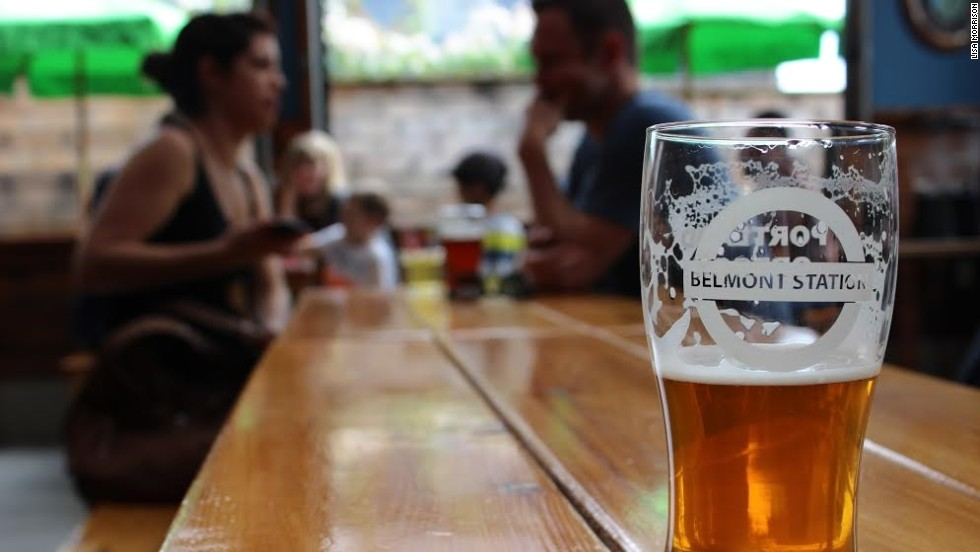 Belmont Station's covered and heated outdoor patio allows beer lovers to sample more than 1,300 bottles and cans and 23 rotating taps year-round.