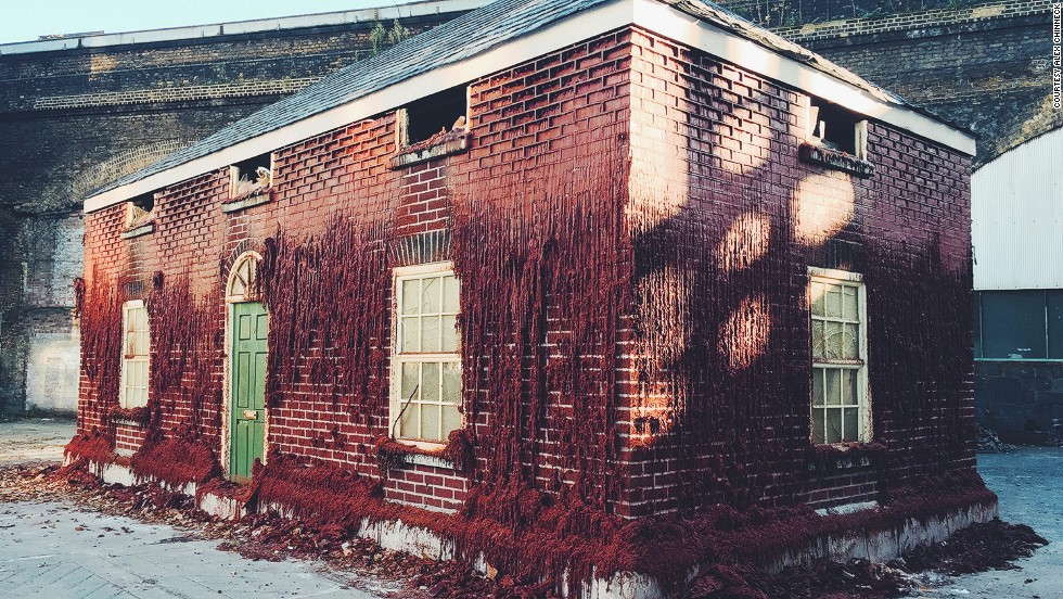 British artist Alex Chinneck creates playful architectural illusions in highly visible spaces. <em>A Pound of Flesh for 50p</em>, a full-scale house made of wax bricks installed in Southwark, is one of  his most recent projects.