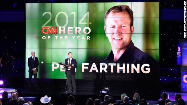 CNN Hero of the Year Pen Farthing speaks onstage.