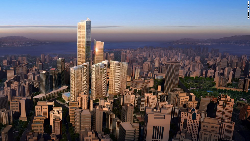 <u><em><strong>Name:</em></strong></u> Dalian Eton Place Tower 1<br /><br /><u><strong><em>Location: </strong></em></u>Dalian, China<br /><br /><u><em><strong>Height:</u></em></strong> 383.1 meters (1,257 feet)<br /><strong><br /><u><em>Description:</u></em></strong> The tallest building in a complex of sparkling new buildings, Dalian Eton Place Tower 1 will rank among China's tallest buildings when completed and contain space for apartments, offices, retail space and entertainment facilities.