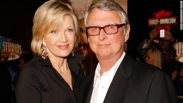 "LOS ANGELES, CA - DECEMBER 10:  Journalist Diane Sawyer (L) and director Mike Nichols arrive at the Universal Pictures' premiere of ""Charlie Wilson's War"" held at CityWalk Cinemas on December 10, 2007 in Los Angeles, California.  (Photo by Mark Mainz/Getty Images)"
